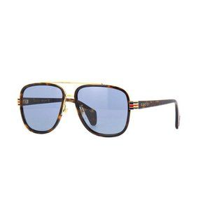 New Gucci Unisex Havana Sunglasses